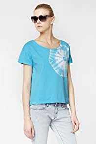 L!VE Short Sleeve Tie-Dye Boatneck Jersey T-Shirt