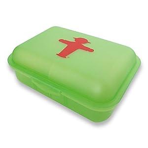 Brotdose Brottasche Ampelmann Pausierer Steher - grün Größe 13 x 18 x 6,9 cm