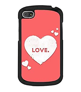 Love Hearts 2D Hard Polycarbonate Designer Back Case Cover for BlackBerry Q10