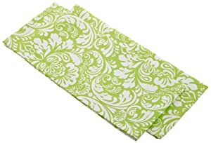 DII Printed Cucumber Melon Damask Dishtowels, Set of 2, Green
