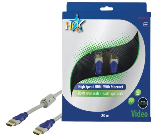 HQ Standard 20m 19P Male High Speed HDMI to 19P Male Audio/Video Conversion Cable with Gold Plated Plugs