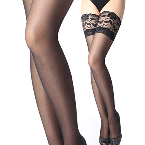 Zeagoo Women's Fashion Sexy Lace Top Thigh-Highs Stockings Pantyhose