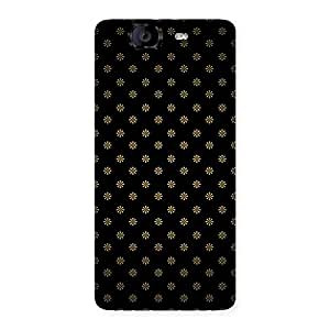 Ajay Enterprises Extant Golden Flowers Back Case Cover for Canvas Knight A350