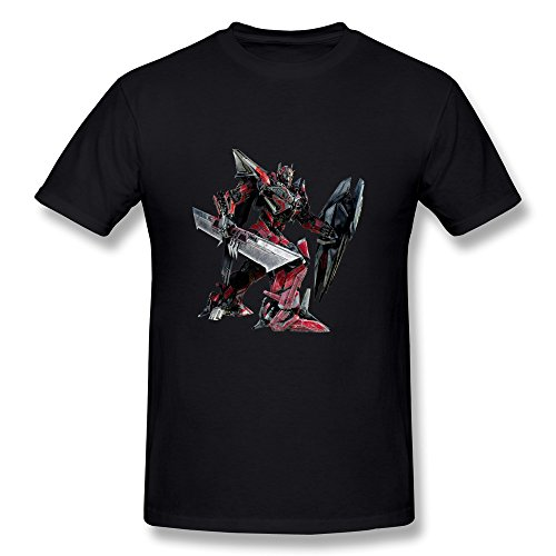 CaiTian Men's Film Transformers 3 Sentinel Prime T-Shirt - Funny Sayings T-shirt Black US Size S
