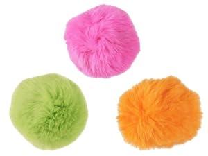 Think!Cat Fur Ball Cat Toy, Soft, Lightweight, 3-Pack