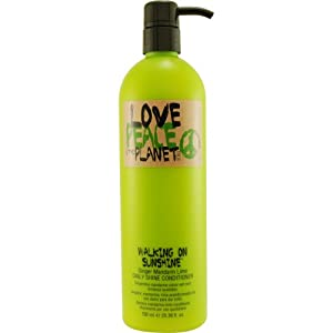 Love Peace and Planet Walking On Sunshine Ginger Mandarin Daily Shine Conditioner Unisex by TIGI, 25.36 Ounce