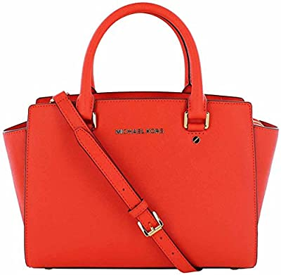 Michael Kors NS Selma Medium Top Zip Satchel Purse