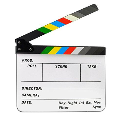 Jmkcoz Acrylic Film Clapboard Dry Erase Director Film