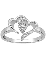 Kama Jewellery 950 Platinum Diamond Ring - B00OAXZZ1C