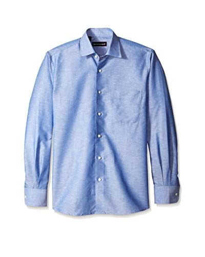 Kenneth Gordon Men's Solid Spread Collar Sportshirt
