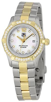 TAG Heuer Women's WAF1450.BB0825 Aquaracer Diamond Two-Tone Mother-of-Pearl Dial Watch from TAG Heuer