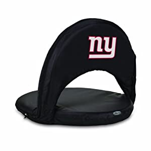 Nfl York Giants Oniva Portable Reclining Seat Black by Picnic Time