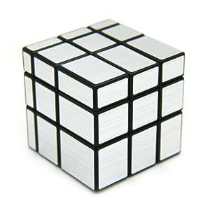 SDFLAYER Mirror Cube Puzzle 3x3, Silver Black
