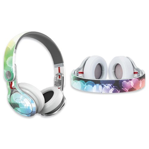 Mightyskins Protective Vinyl Skin Decal Cover For Dr. Dre Beats Mixr Headphones Sticker Skins Colorful Hearts