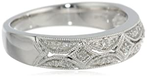 Sterling Silver Diamond Band Ring (0.05 cttw, I-J Color, I3) from Amazon Curated Collection