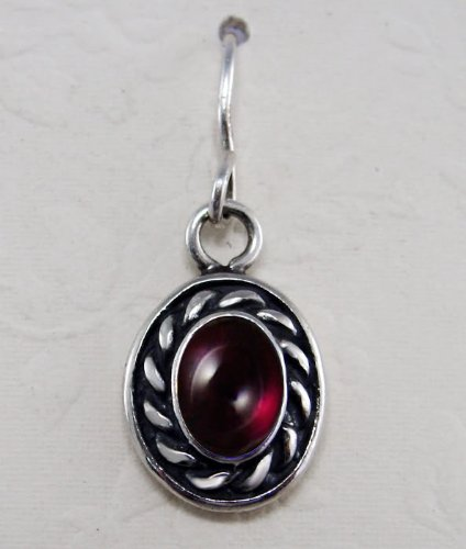 Garnet Sterling Silver Hook Earrings When You Need Just a Little Bit of Color