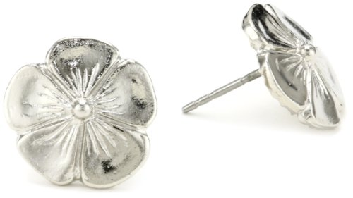 1928 Jewelry Silver-tone Flower Stud Earrings