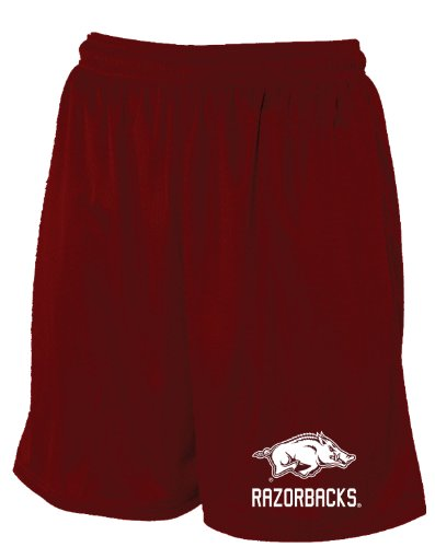 NCAA Arkansas Razorbacks Men's Mesh Pocket Short (Cardinal, Medium) at Amazon.com