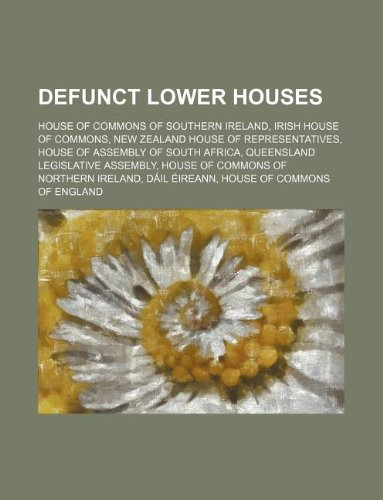 Defunct lower houses: Irish House of Commons, D PDF