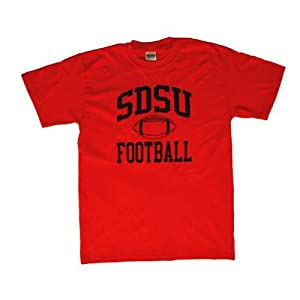 San Diego State Aztecs T-shirt - Football, Red by SportShack INC