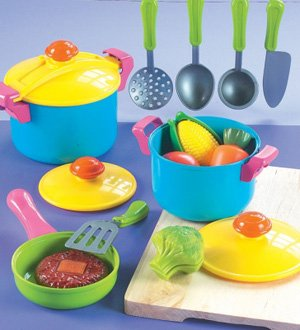 Small World Toys Living - Young Chef Cookware 11 Pc. Playset (Childrens Play Cookware compare prices)