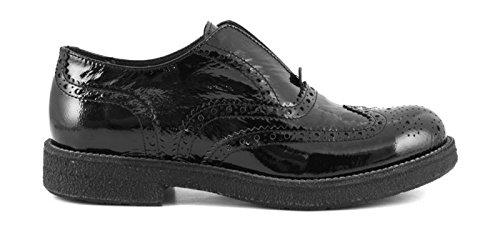 CAFè NOIR EB311 nero scarpe donna inglesina puntale inglese vernice slip on 41