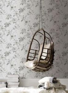 Graham and Brown Rosamund Wallpaper - Grey by New A-Brend