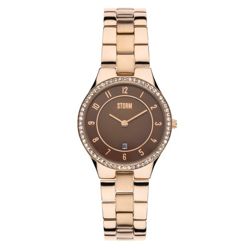 Storm 47189/RG - Orologio da polso da donna, cinturino in metallo colore oro rosa