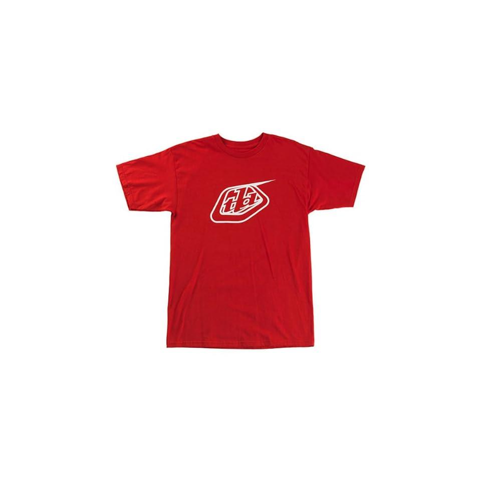 Troy Lee Designs Logo Mens Short Sleeve Race Wear T Shirt/Tee   Red / X Large
