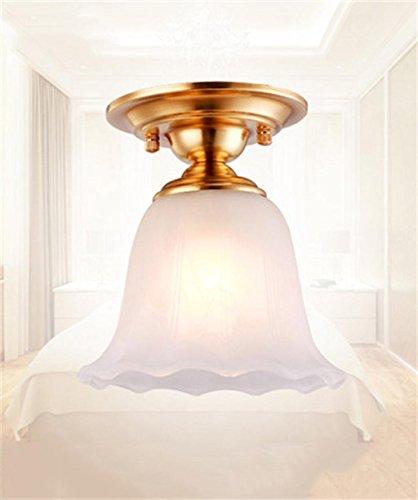 Europeo Retro americano LED di rame completa da letto Soggiorno Balcone luce della navata laterale del soffitto.