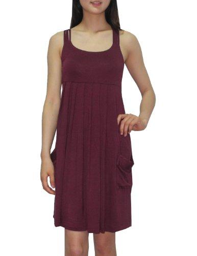 Calvin Klein Womens Scoop Neck Summer Casual Tank Dress 4/S Purple