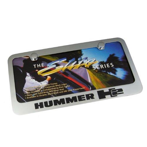 Hummer H2 Chrome Brass License Plate Frame (Hummer H2 License Plate Frame compare prices)