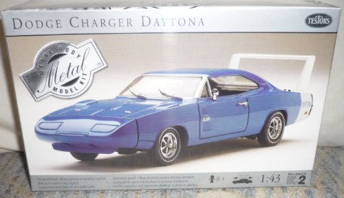 #145 Testors Dodge Charger Daytona 1/43 Scale Metal Model Kit,Needs Assembly