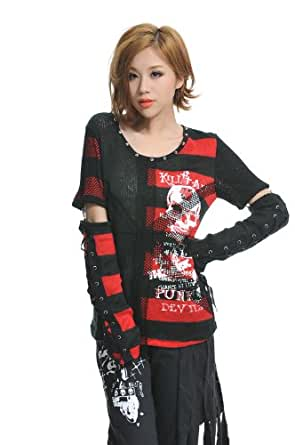 Amazon.com: GDR - Fashion Gothic Visual Punk Rock Unisex Shirt - S M L