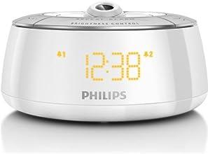 Philips AJ5030/12 Radio-réveil avec projecteur 180° Blanc