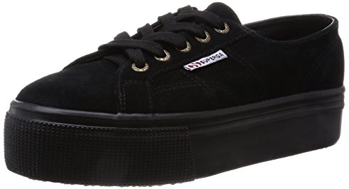 Superga 2790-Suew, Scarpe Low-Top Donna, Nero (Full Black), 41 EU
