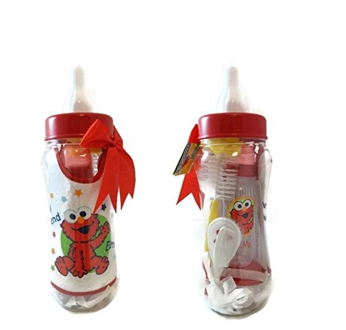 Elmo Bottle Bank Gift Set (8 Pieces)