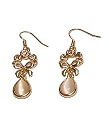 Jeweltouch Evil Beige White Water Drop Shape Decorated With Cz Dimaond Alloy ...