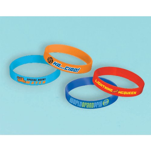 Disney's Cars 2 Rubber Bracelets 4 Pack - 1