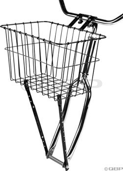 Wald 198 Front Bicycle Basket (14.5 x 9.5 x 9, Black)