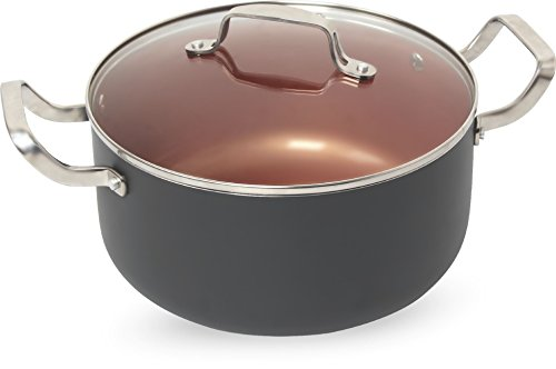 Ceramic & Titanium Non-Stick Saucepan - 10 inch Dishwasher & Oven Safe Non-Scratch Cookware with Induction Plate - By Copper Master (Rice Saucepan compare prices)
