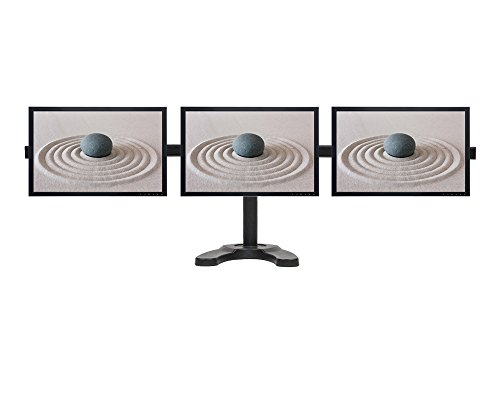 NavePoint Triple LCD Curved Monitor Mount Stand Free Standing