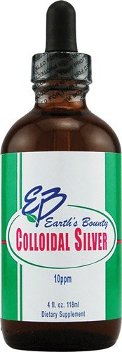 Earth's Bounty Colloidal Silver 30 Ppm Throat Spray - 4 Oz, Pack of 2