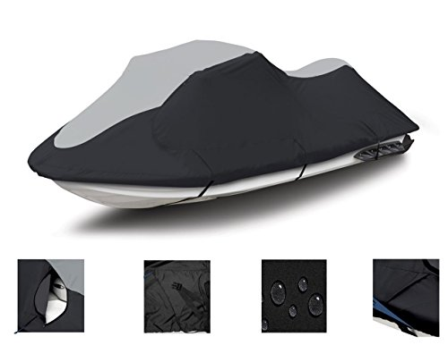 SUPER HEAVY-DUTY, DESIGNED FOR STORAGE MORING TRAILERING PURPOSES 600 DENIER Jet Ski PWC Cover for 2-3 Seater up to 129