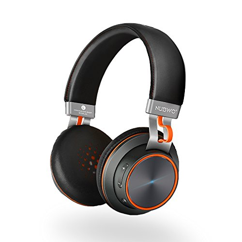 NUBWO S2 V4.1 Bluetooth Wireless Headset On-ear HiFi Stereo Headphones with Microphone for Smartphones, Tablets, Laptops & PC - Black (Black Head Phones With Microphone compare prices)