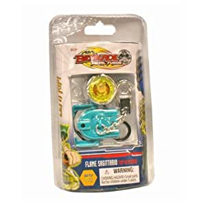 Beyblade Metal Fusion - Flame Sagittario Keychain Battle Top