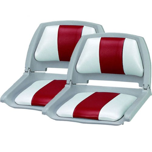 Set Of 2 Molded Fold Down Boat Seats Red Inexpensive Nguyen165n3