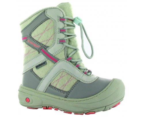HI-TEC Slalom 200 WP Junior Winter Boot, Grey/Pink, J11