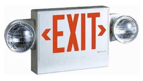 Sure-Lites LPX7DHNCSD LED Commercial Exit and Emergency, Red and Green Letters, Self-Powered, Combo Unit, Self-Diagnostic