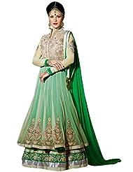 Stylelok Green Georgette Unstitched Anarkali Suit Sl 175012100